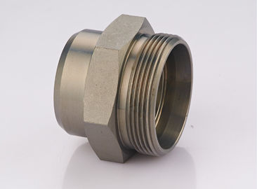 China Stainless Steel DIN Hydraulic Fittings , Male Thread Welded Pipe Fittings supplier