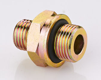 Brass DIN Hydraulic Fittings , O - Ring Metric Pipe Thread Fittings