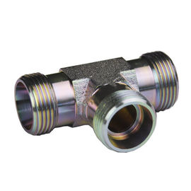 Cone Pipe Equal Tee Fitting  Din 3865 Carbon Steel Zinc Surface Treatment