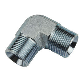 Npt Carbon Steel BSP Thread Adapter / Hydraulic Elbow Joint Pipe Fittings